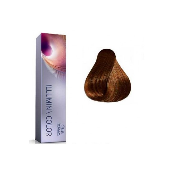 Tinte Illumina Color Wella 5/43 Castaño Claro Cobrizo Dorado 60ml