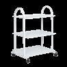 Carrito de estetica 3 estantes - metálico