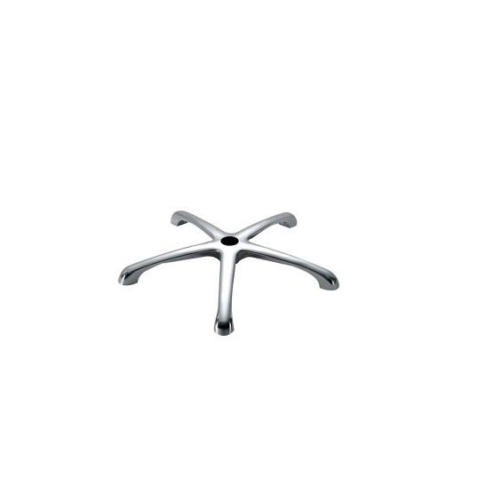 Base estrella cromada para sillón de peluquería