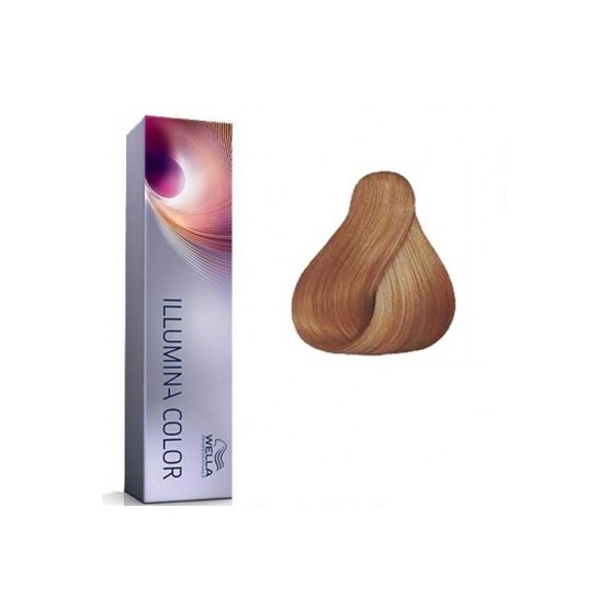 Tinte Illumina Color Wella 8/05 Rubio Claro Natural Caoba 60ml
