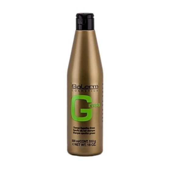Champú Greasy Hair antigrasa Línea Oro Salerm 500ml