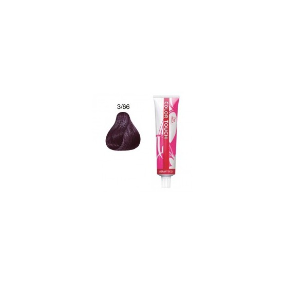 Baño de color Wella color touch 3/66 Castaño Oscuro Violeta Intenso 60ml