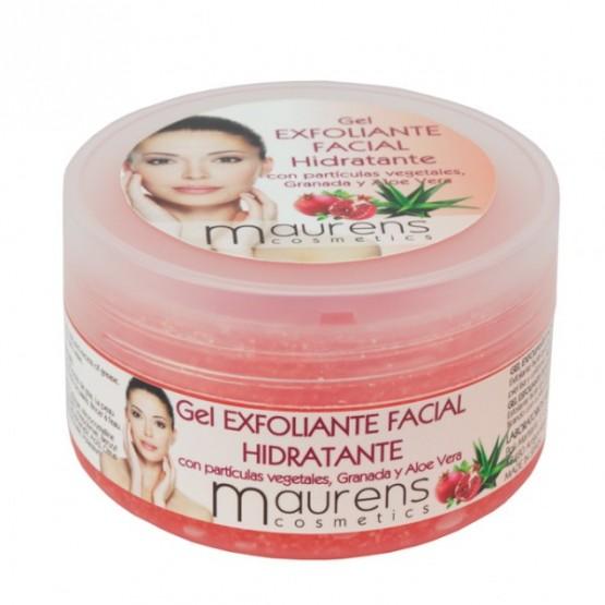Gel Exfoliante facial Hidratante con partículas de Granada y Aloe Vera Maurens 200ml.