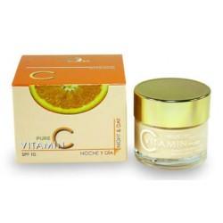 Crema Revitalizante de vitamina C FPS10 NOCHE Y DÍA 50 ml.