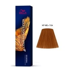 TINTE KOLESTON PERFECT ME+ WELLA  7/34 Rubio Medio Dorado Cobrizo 60ml