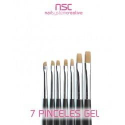7 PINCELES  GEL NSC