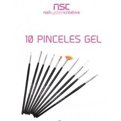 10 PINCELES PARA DECORACIÓN NSC