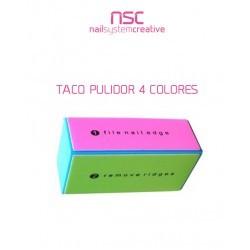 TACO PULIDOR 4 CARAS COLORES NSC