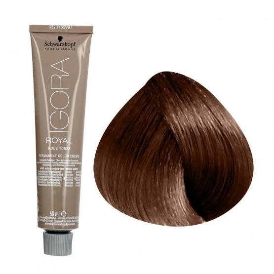 Tinte IGORA ROYAL TONOS NUDE 7-46 rubio medio beige chocolate