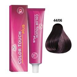 Baño de Color Wella Color Touch Plus 44/06 Castaño Mediano Natural Violeta 60ml