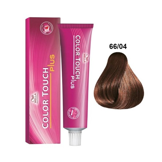 Baño de color Wella color touch plus 66/04 Rubio Intenso Natural Cobrizo 60ml