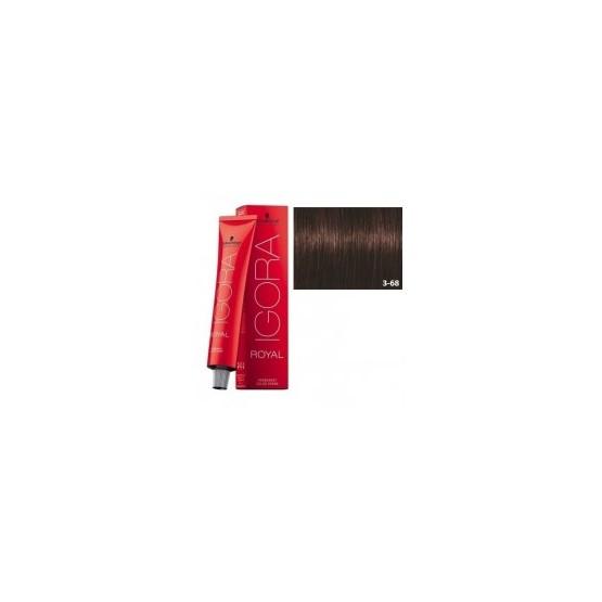 Tinte IGORA ROYAL 3-68 Castaño Oscuro Marrón Rojo 60ml