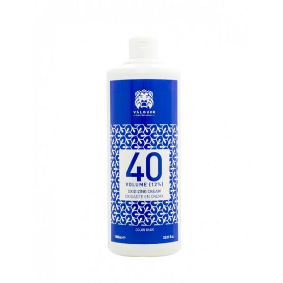 Valquer oxigenada en estabilizada en crema de 40 Volúmenes (12%) 1000ml