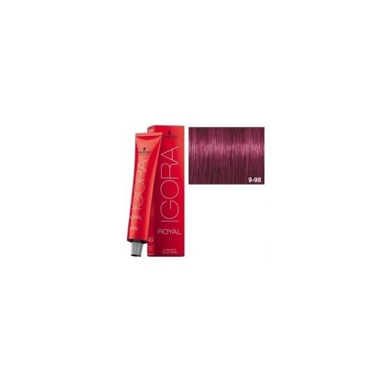 Tinte IGORA ROYAL 9-98 Rubio Muy Claro Violeta Rojo 60ml
