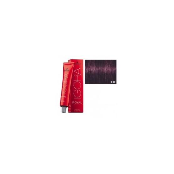 Tinte IGORA ROYAL 0-99 Tono Mezcla Violeta 60ml