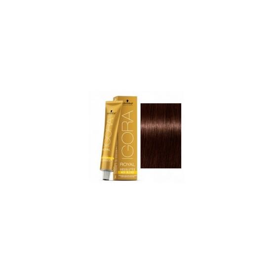 Tinte IGORA ROYAL ABSOLUTES 4-70 Castaño Medio Cobrizo Natural 60ml