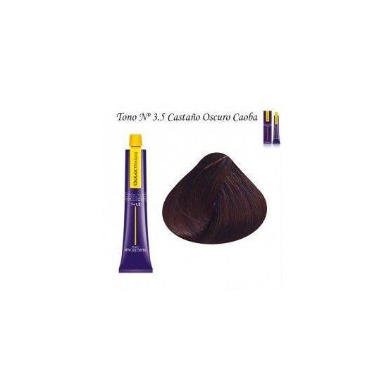 Tinte Salerm Visón 3,5 Castaño Oscuro Caoba 75ml