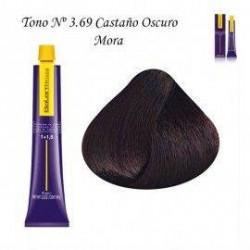 Tinte Salerm Visón 3,65 Castaño Oscuro Rojizo Caoba 75ml