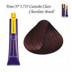 Tinte Salerm Visón 5,735 Castaño Claro Chocolate Brasil 75ml