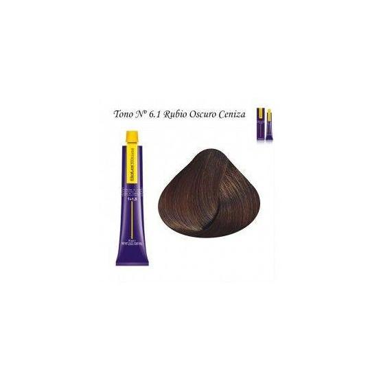 Tinte Salerm Visón 6,1 Rubio Oscuro Ceniza 75ml