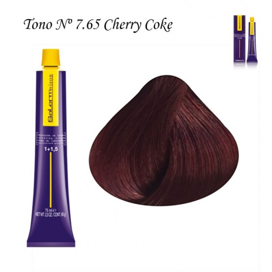 Tinte Salerm Visón 7,65 Rubio Cherry Coke 75ml