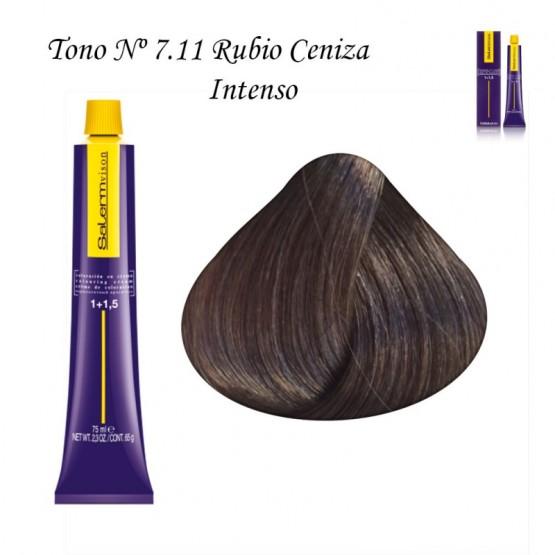 Tinte Salerm Visón 7,11 Rubio Ceniza Intenso 75ml