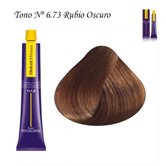 Tinte Salerm Visón 6,73 Rubio Oscuro Marrón Dorado 75ml