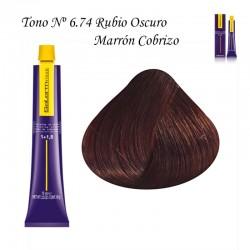Tinte Salerm Visón 6,74 Rubio Oscuro Marrón Cobrizo 75ml
