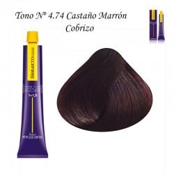 Tinte Salerm Visón 4,74 Castaño Marrón Cobrizo 75ml