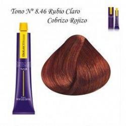 Tinte Salerm Visón 8,46 Rubio Claro Rojizo Cobrizo 75ml