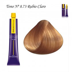 Tinte Salerm Visón 8,73 Rubio Claro Marrón Dorado 75ml