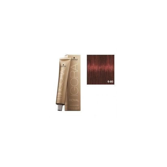 Tinte IGORA ROYAL ABSOLUTES 6-80 Rubio Oscuro Rojo natural 60ml