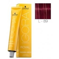 Tinte aclarador IGORA ROYAL Fashión Lights L-89 Rojo Violeta 60ml